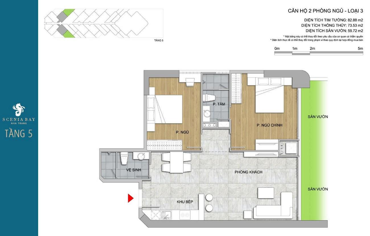 Thiết kế dự án căn hộ condotel Scenia Bay Nha Trang Đường Phạm Văn Đồng chủ đầu tư Nam Tiến Lào Cai