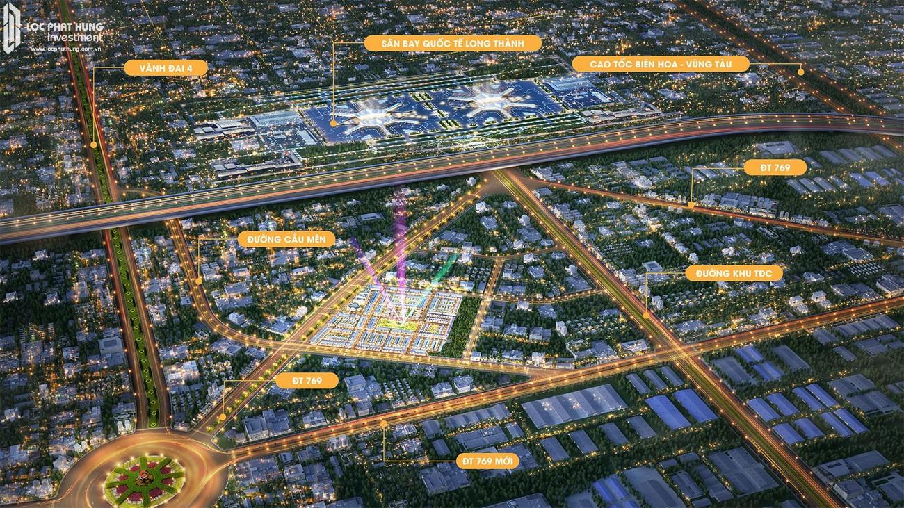 Phối cảnh tổng thê dự án đất nền Century City Huyện Long Thành Tỉnh Đồng Nai chủ đầu tư Kim Oanh
