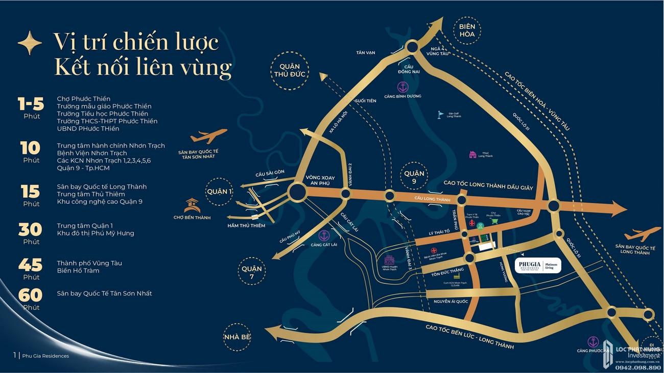 Vị trí địa chỉ dự án nhà phố Phú Gia Residences Đồng Nai chủ đầu tư Phú Long