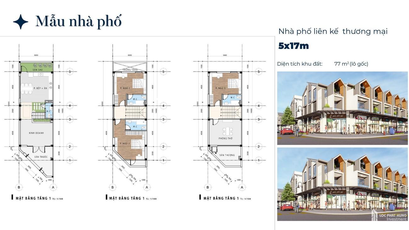 Thiết kế dự án nhà phố Phú Gia Residences Nhơn Trạch Đồng Nai chủ đầu tư Phú Long