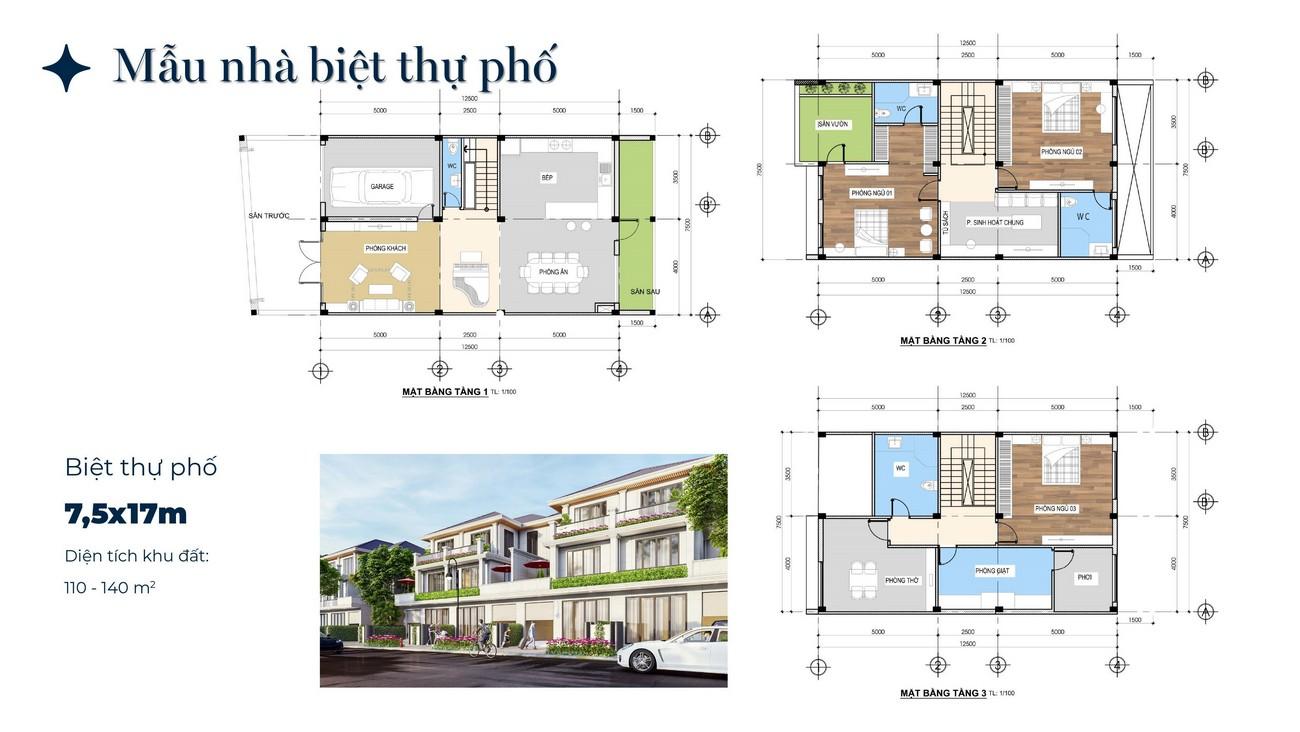 Nhà mẫu dự án nhà phố Phú Gia Residences Nhơn Trạch Đồng Nai chủ đầu tư Phú Long