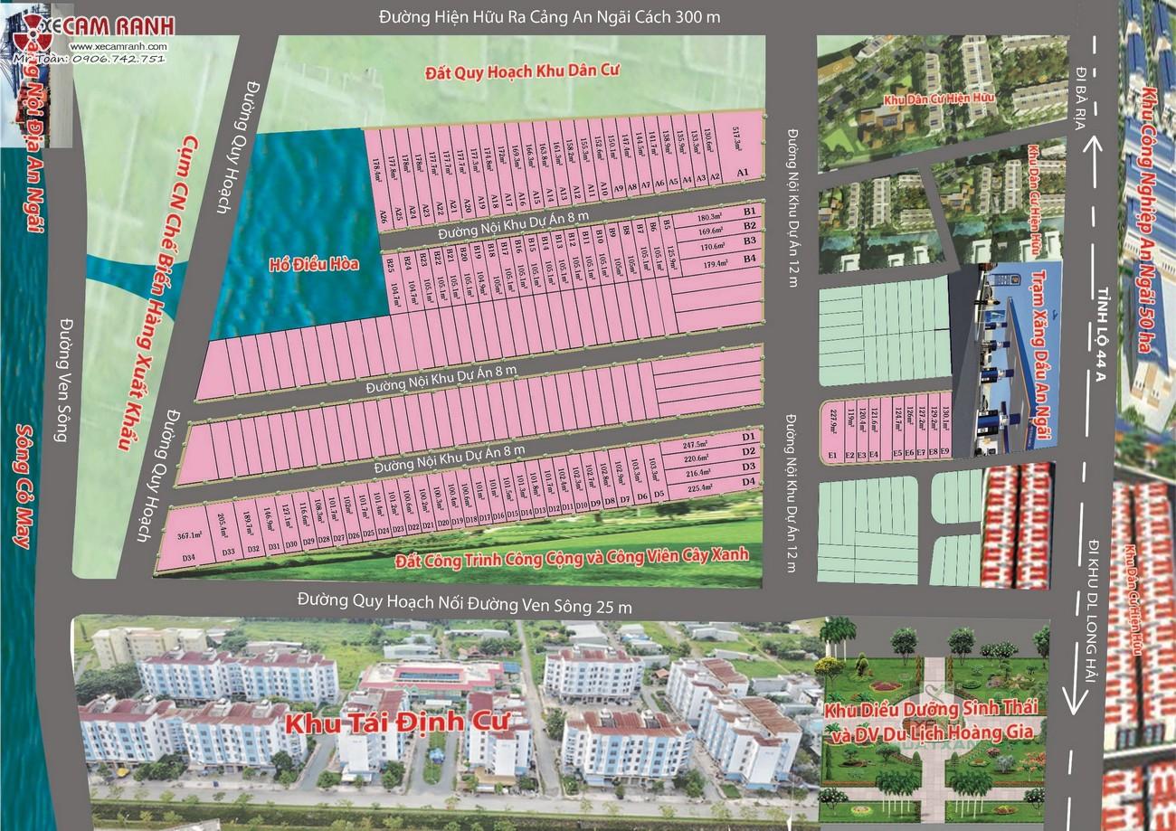 Sơ đồ phân lô dự án đất nền Eco Golden River huyện Long Điền Tỉnh Bà Rịa Vũng Tàu