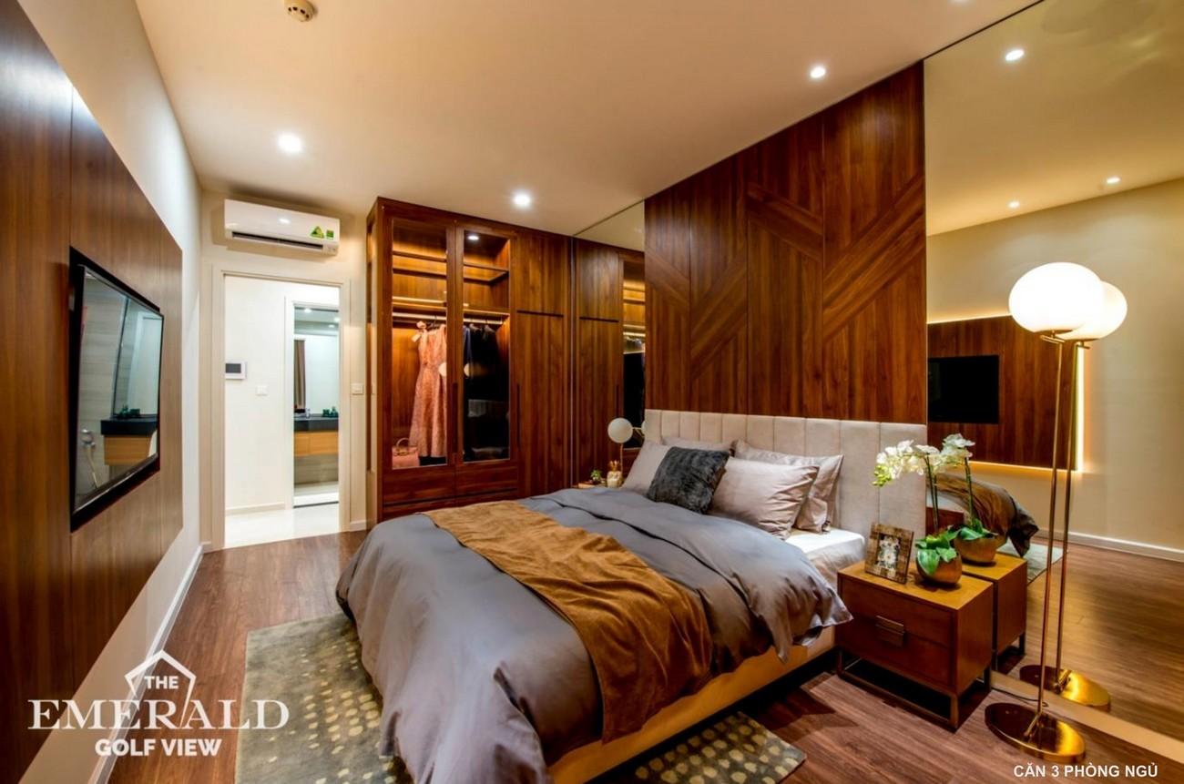Nhà mẫu dự án căn hộ chung cư 3PN The Emerald Golf View Bình Dương