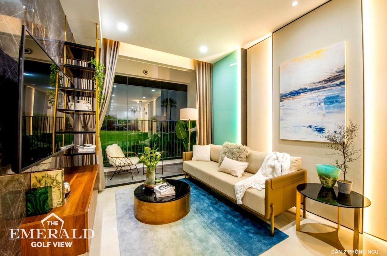 Nhà mẫu dự án căn hộ chung cư 2PN The Emerald Golf View Bình Dương