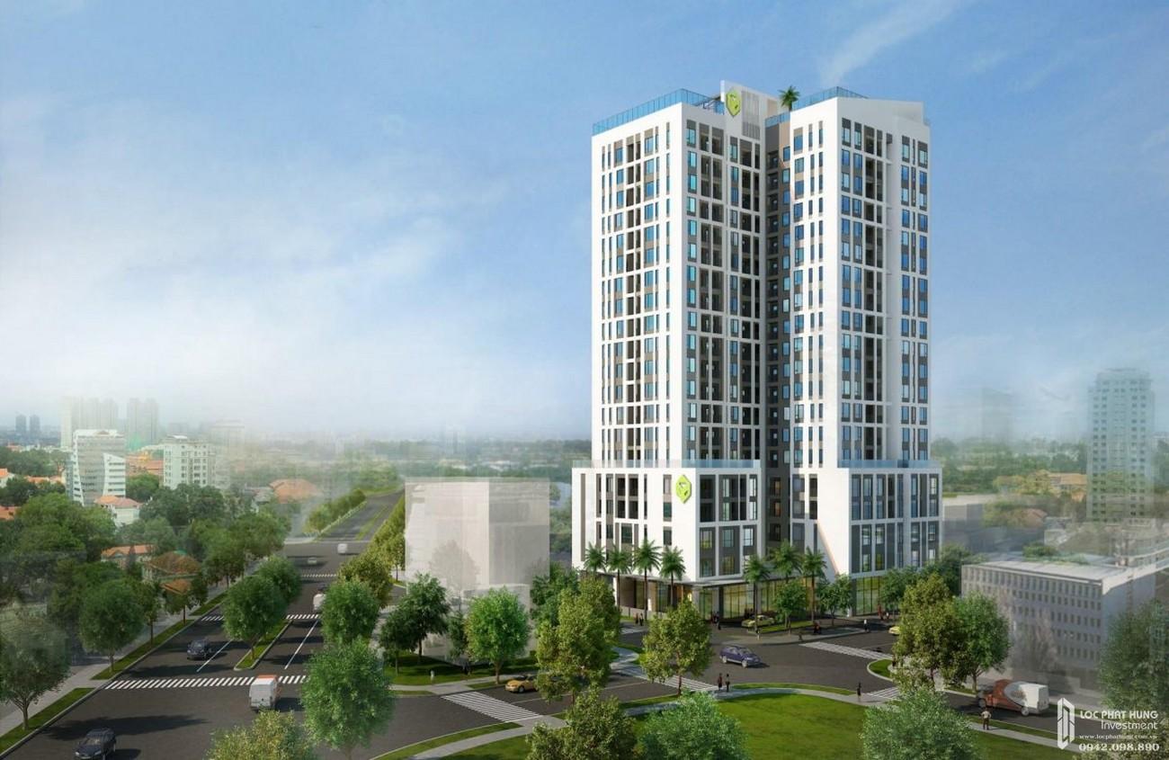 Phối cảnh tổng thể dự án căn hộ chung cư Kingston Residence Phú Nhuận Đường Hoàng Văn Thụ chủ đầu tư Novaland