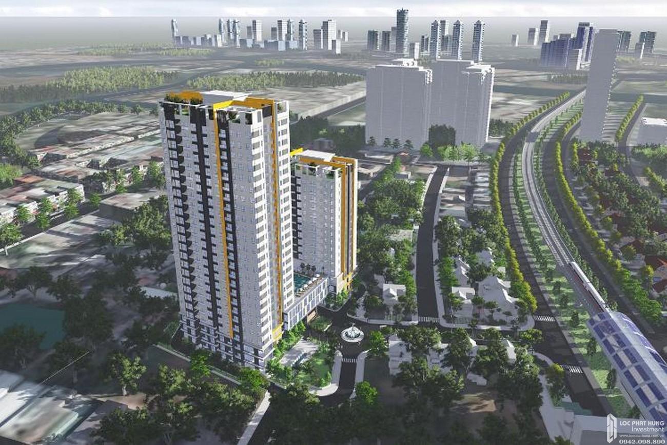 Phối cảnh tổng thể dự án căn hộ chung cư Hưng Phát Silver Star Nhà Bè Đường Nguyễn Hữu Thọ chủ đầu tư Hưng Lộc Phát