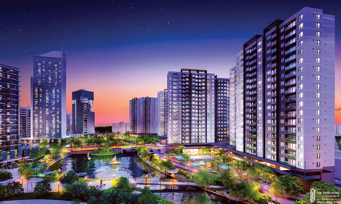 Phối cảnh tổng thể dự án căn hộ chung cư Mizuki Park Bình Chánh Đường Nguyễn Văn Linh chủ đầu tư Nam Long