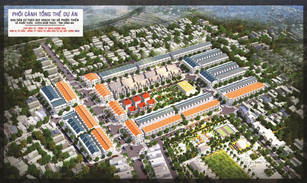 Phối cảnh tổng thể dự án đất nền Phú Gia Residences Nhơn Trạch Đồng Nai chủ đầu tư Phú Đông