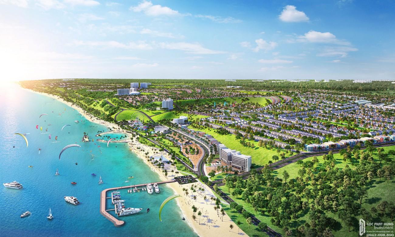 Phối cảnh tổng thể dự án Khu đô thị Novaworld Phan Thiết đường Lạc Long Quân nhà phát triển Novaland