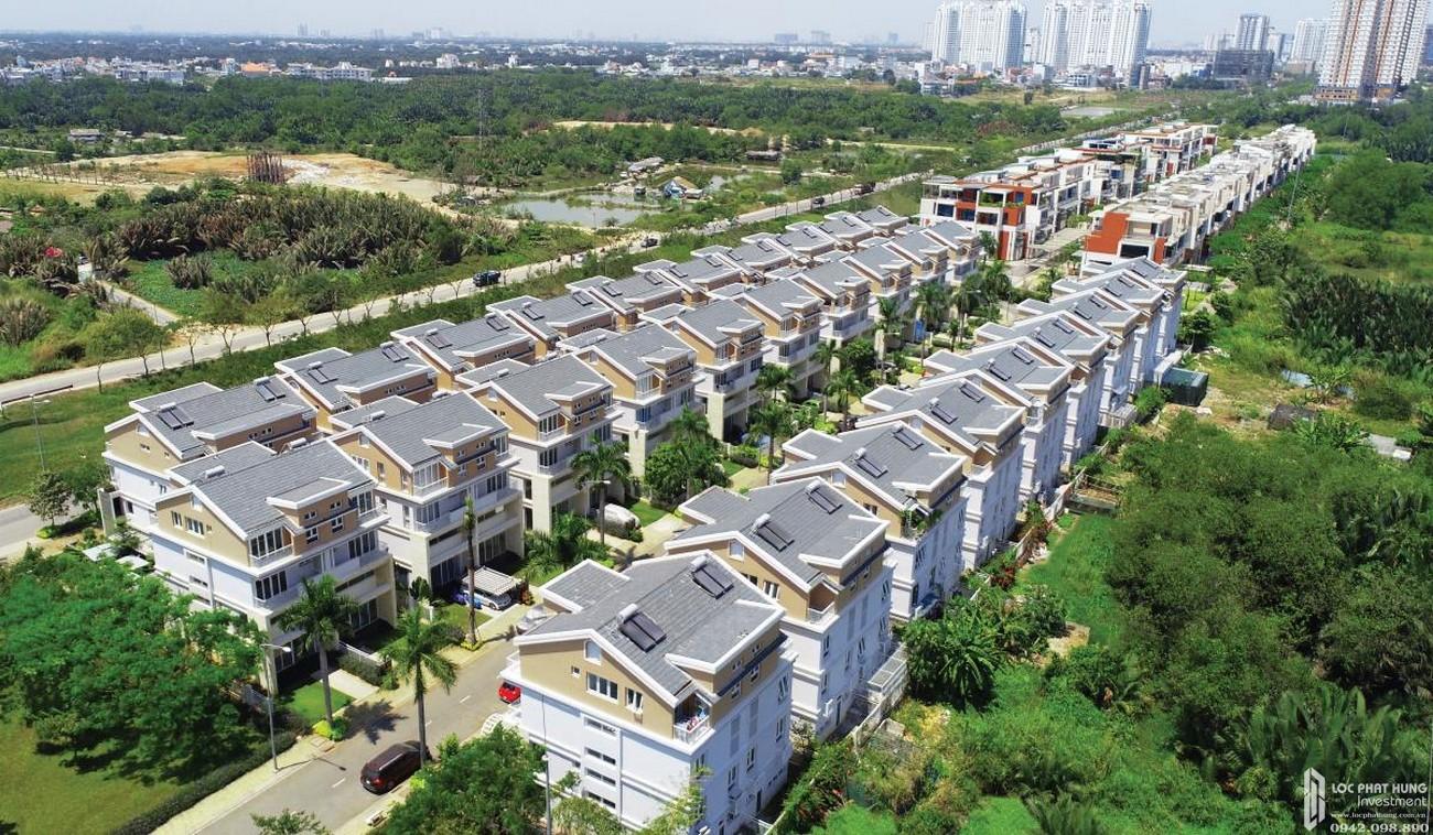 Phối cảnh tổng thể dự án nhà phố Dragon Parc Nhà Bè đường Nguyễn Hữu Thọ chủ đầu tư Phú Long