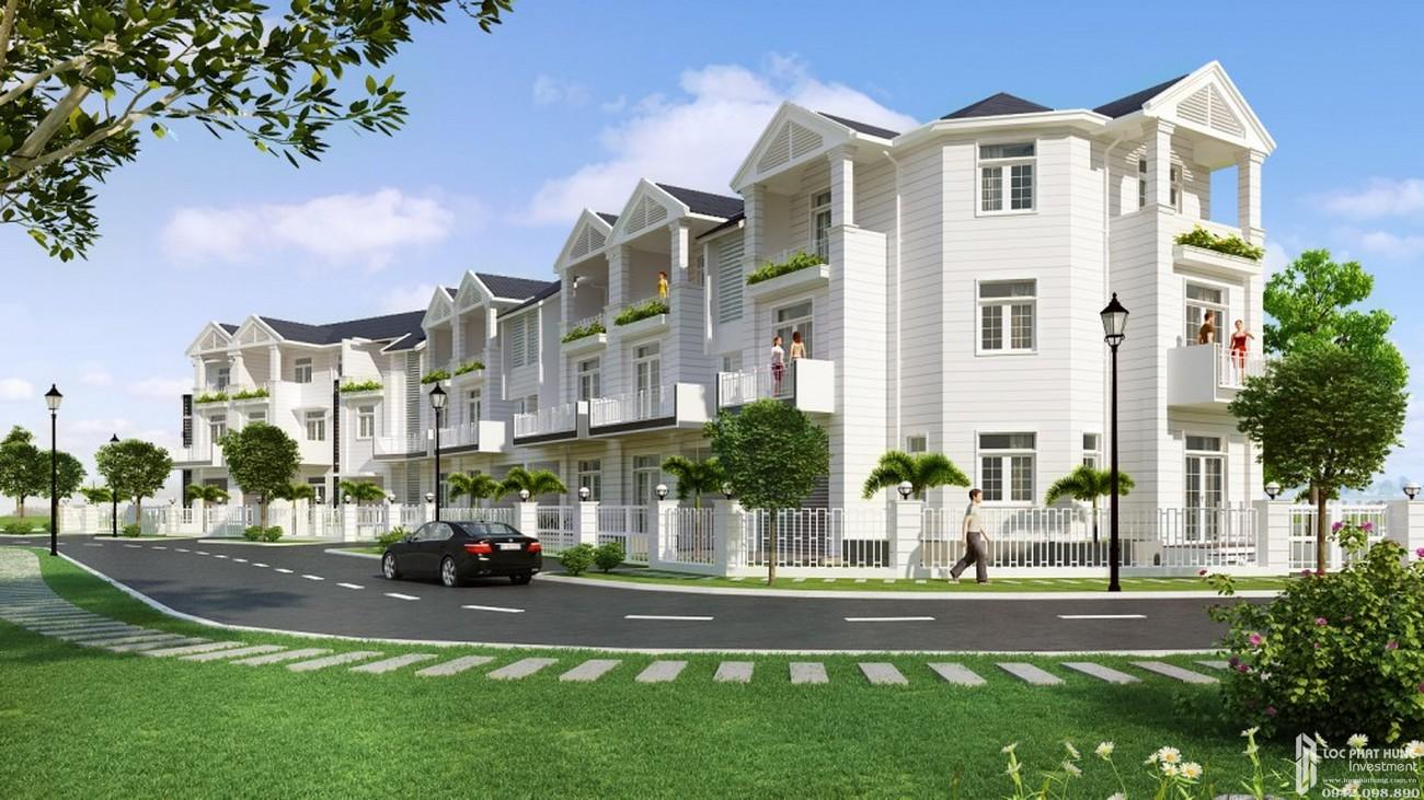 Phối cảnh tổng thể dự án nhà phố Hoja Villa Quận 9 chủ đầu tư Khang Điền