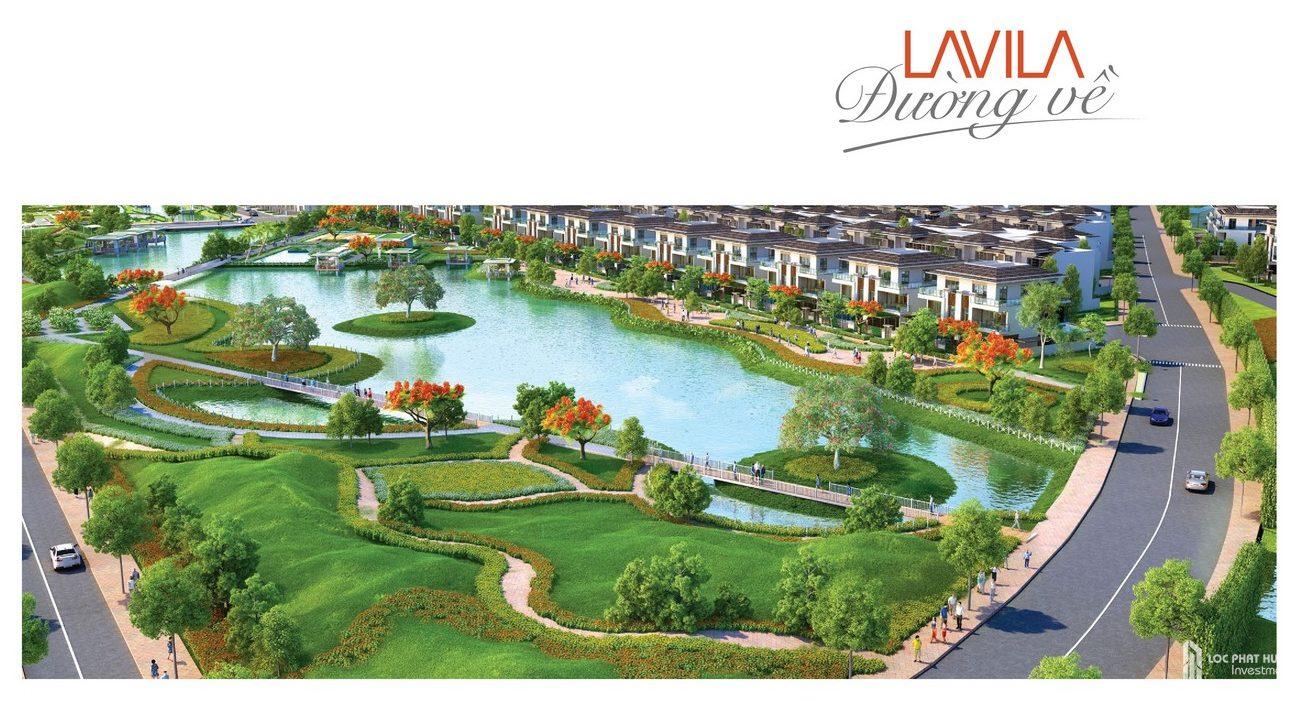 Phối cảnh tổng thể dự án nhà phố Lavila Nhà Bè Đường Nguyễn Hữu Thọ chủ đầu tư Kiến Á