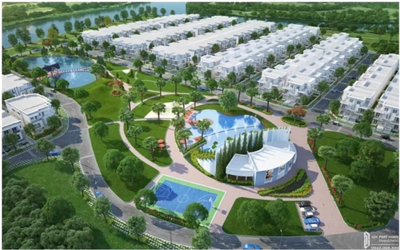 Phối cảnh tổng thể dự án nhà phố Melosa Garden Quận 9 Đường Vành Đai Trong chủ đầu tư Khang Điền