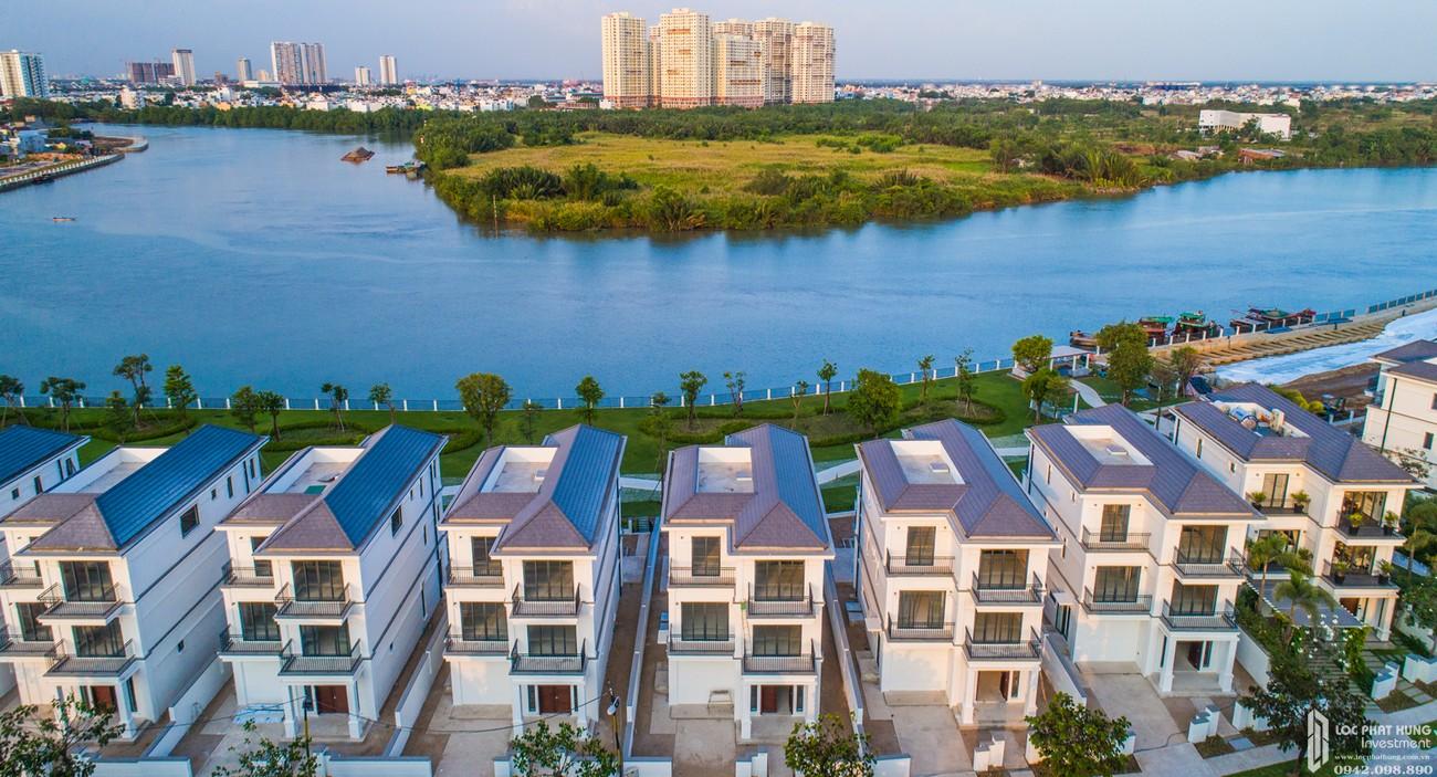 Phối cảnh tổng thể dự án nhà phố Nine South Estates Nhà Bè Đường Nguyễn Hữu Thọ chủ đầu tư VinaCapital