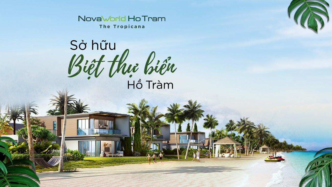Phối cảnh tổng thể dự án nhà phố Novaworld Hồ Tràm Bình Châu chủ đầu tư Novaland