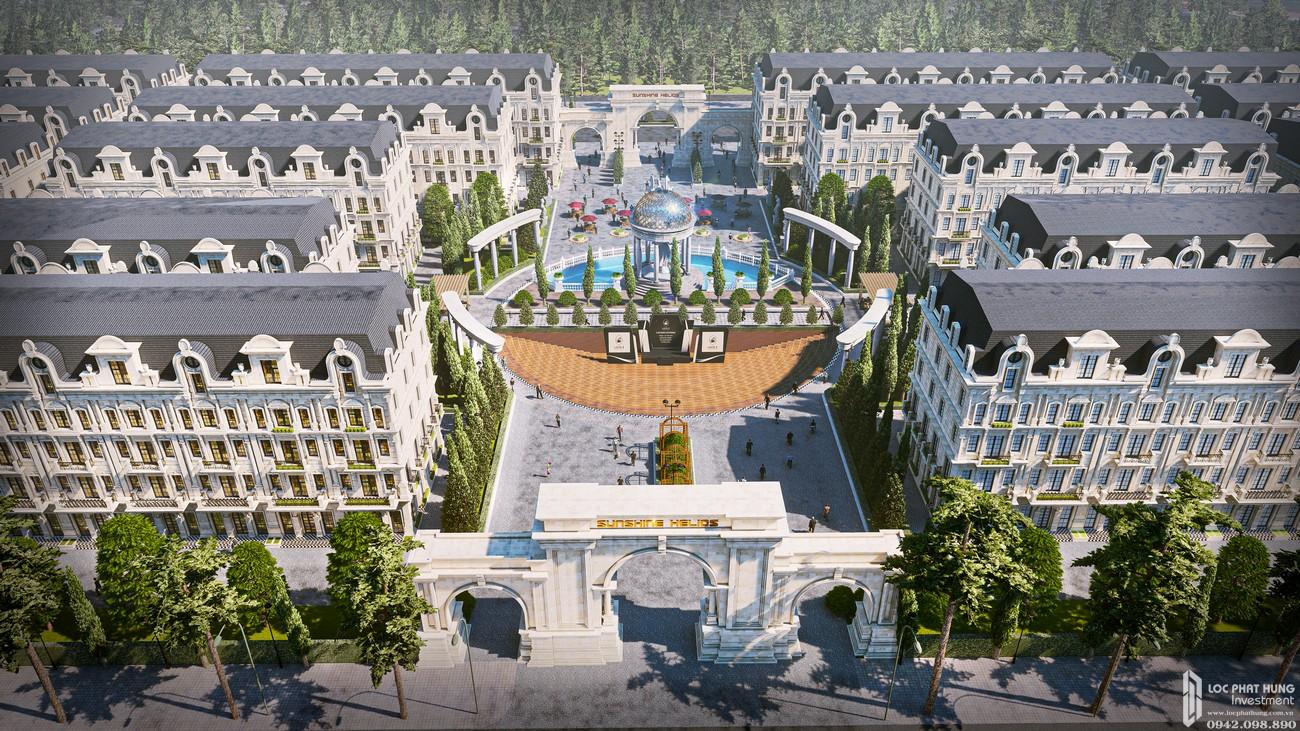 Phối cảnh tổng thể dự án nhà phố Sunshine Helios quận Tây Hồ chủ đầu tư Sunshine Group