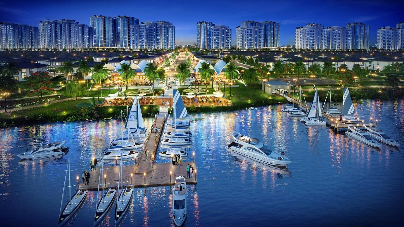 Phối cảnh tổng thể dự án biệt thự nhà phố Waterpoint Long An Đường Tỉnh lộ 830 chủ đầu tư Nam Long