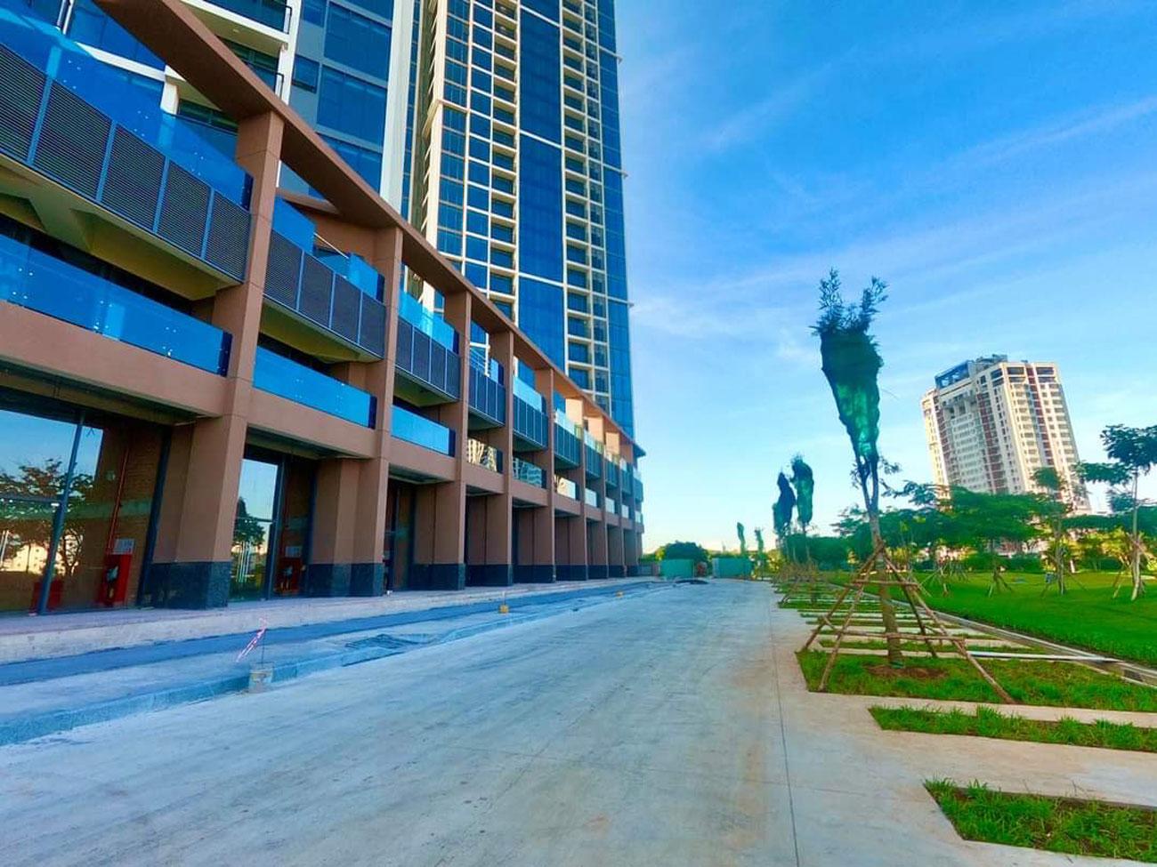 Hình thực tế dãy Shophouse dự án căn hộ chung cư Eco Green Sài Gòn Quận 7 tháng 09/2020