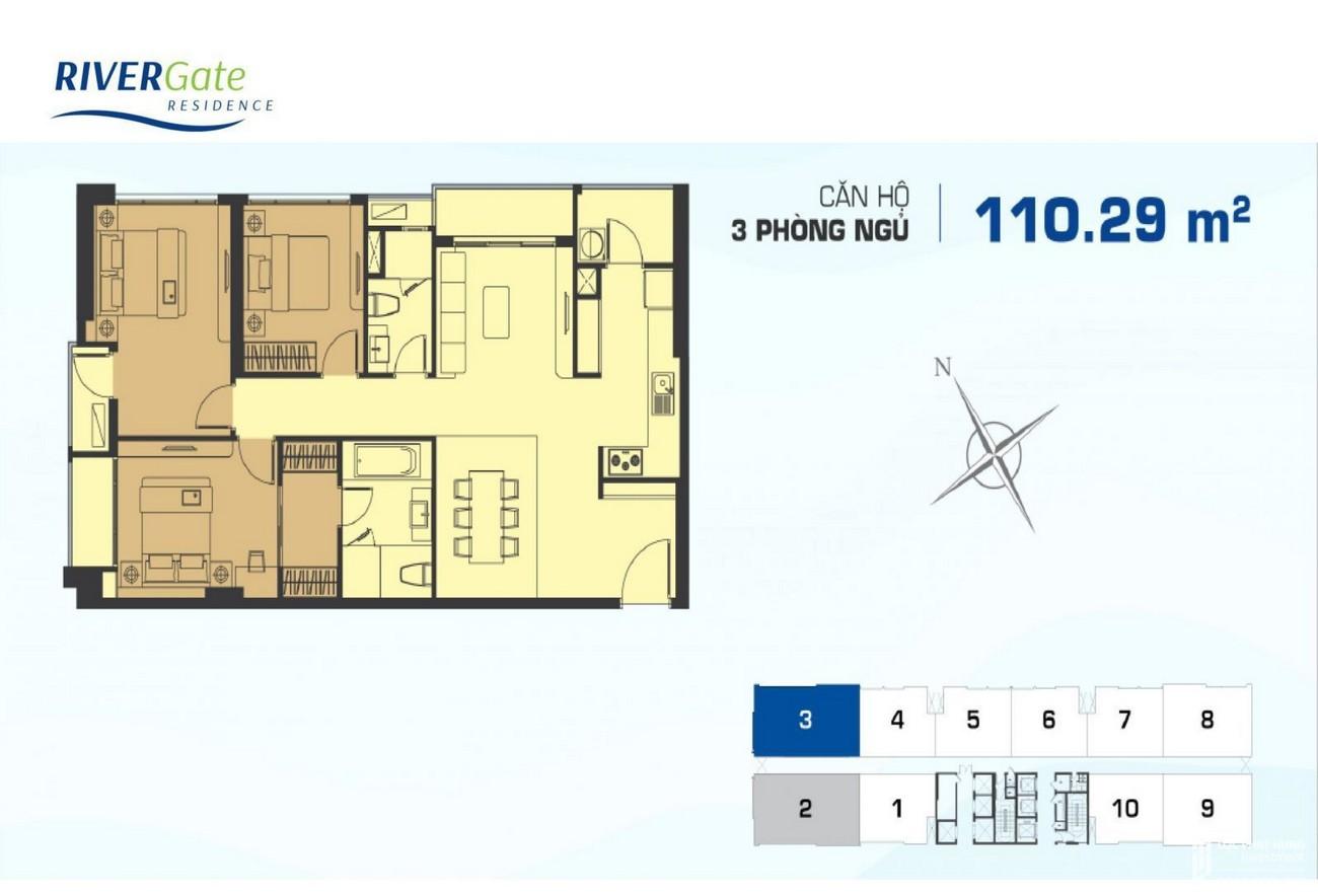Thiết kế dự án căn hộ chung cư Rivergate Residence Quận 4 Đường Bến Vân Đồn chủ đầu tư Novaland