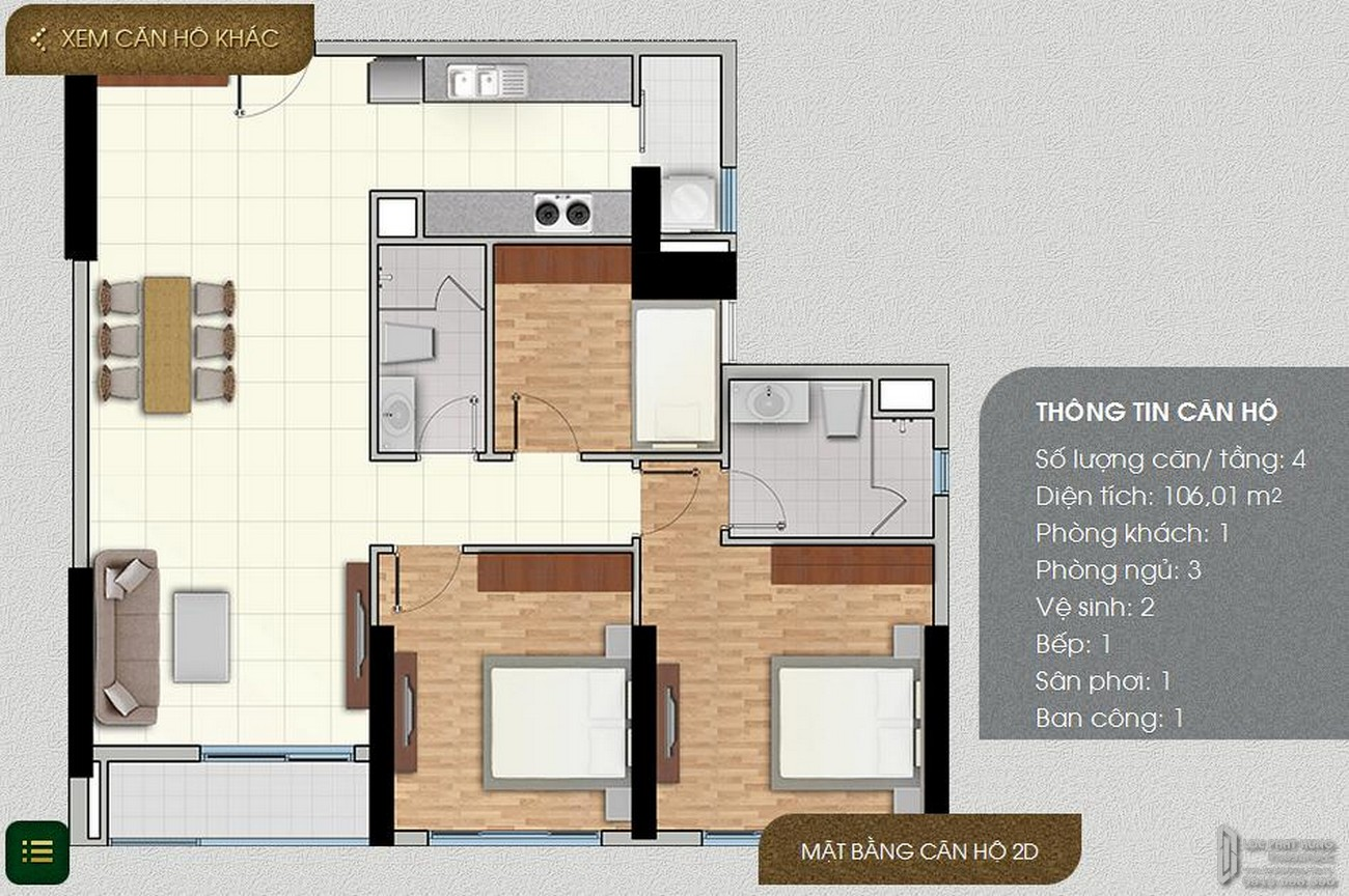 Thiết kế dự án căn hộ chung cư The Park Residence Nhà Bè Đường Nguyễn Hữu Thọ chủ đầu tư Phú Hoàng Anh