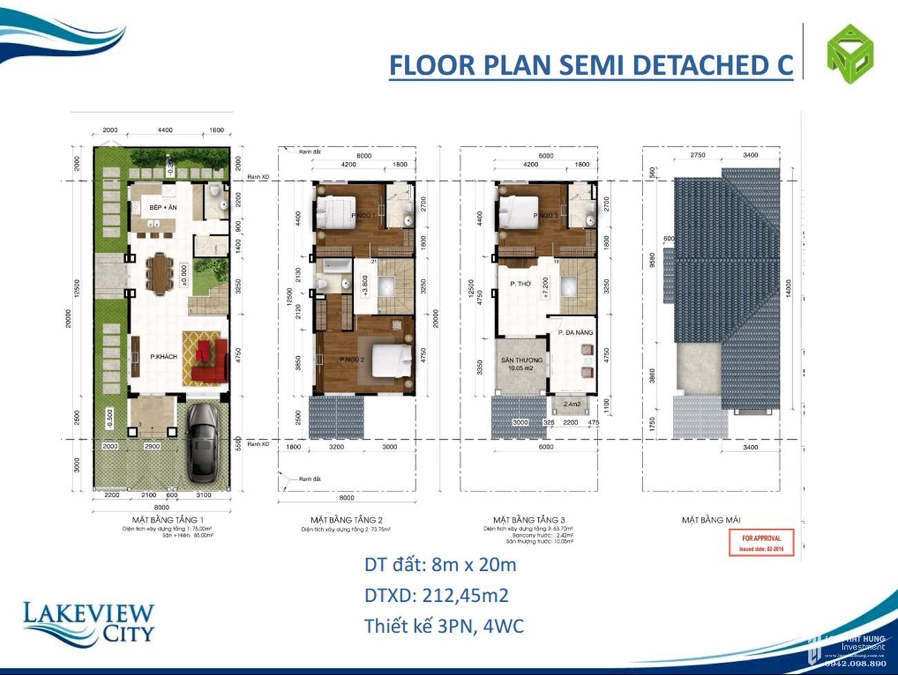 Thiết kế dự án nhà phố Lakeview City Quận 2 Đường Cao tốc Long Thành - Dầu Giây chủ đầu tư NovaLand