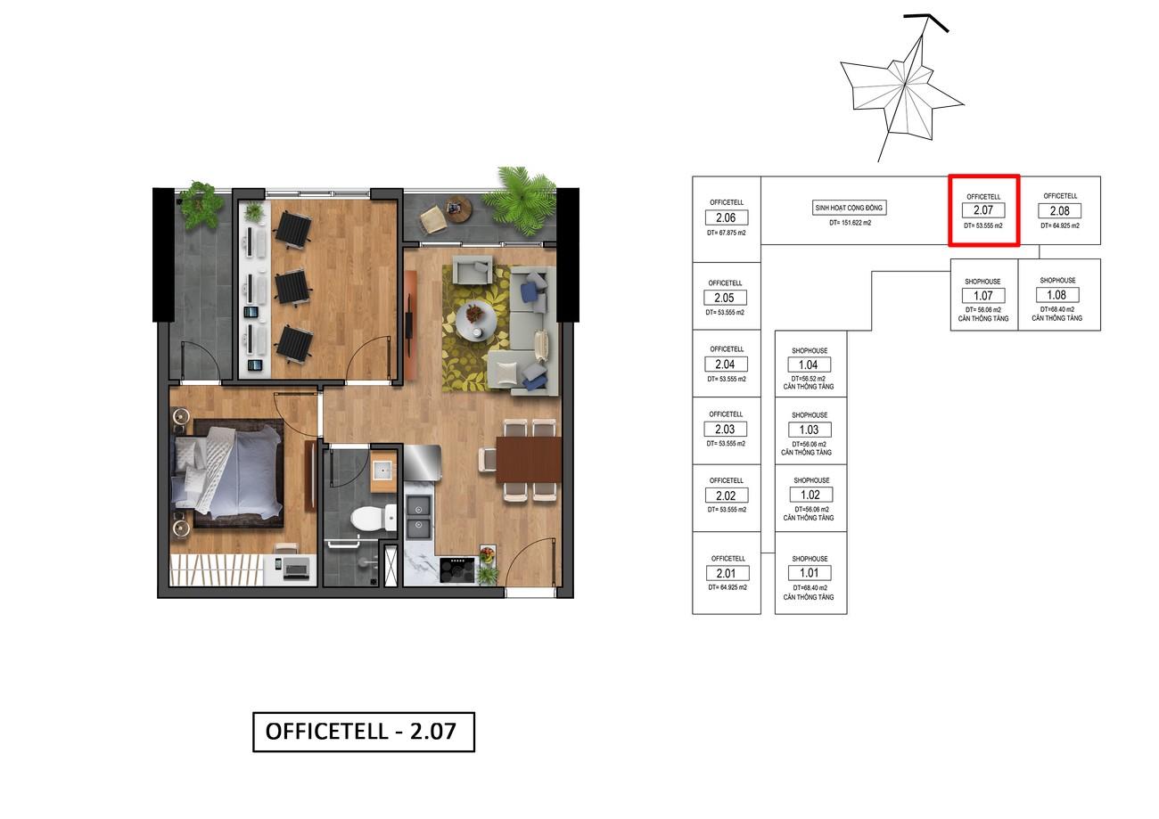 Thiết kế chi tiết Officetel Goldora Plaza Nhà Bè