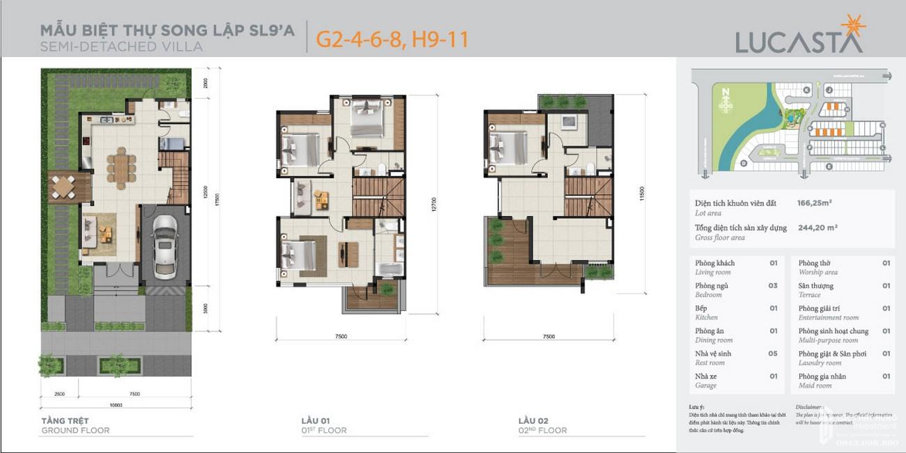 Thiết kế dự án biệt thự Lucasta Khang Điền Quận 9