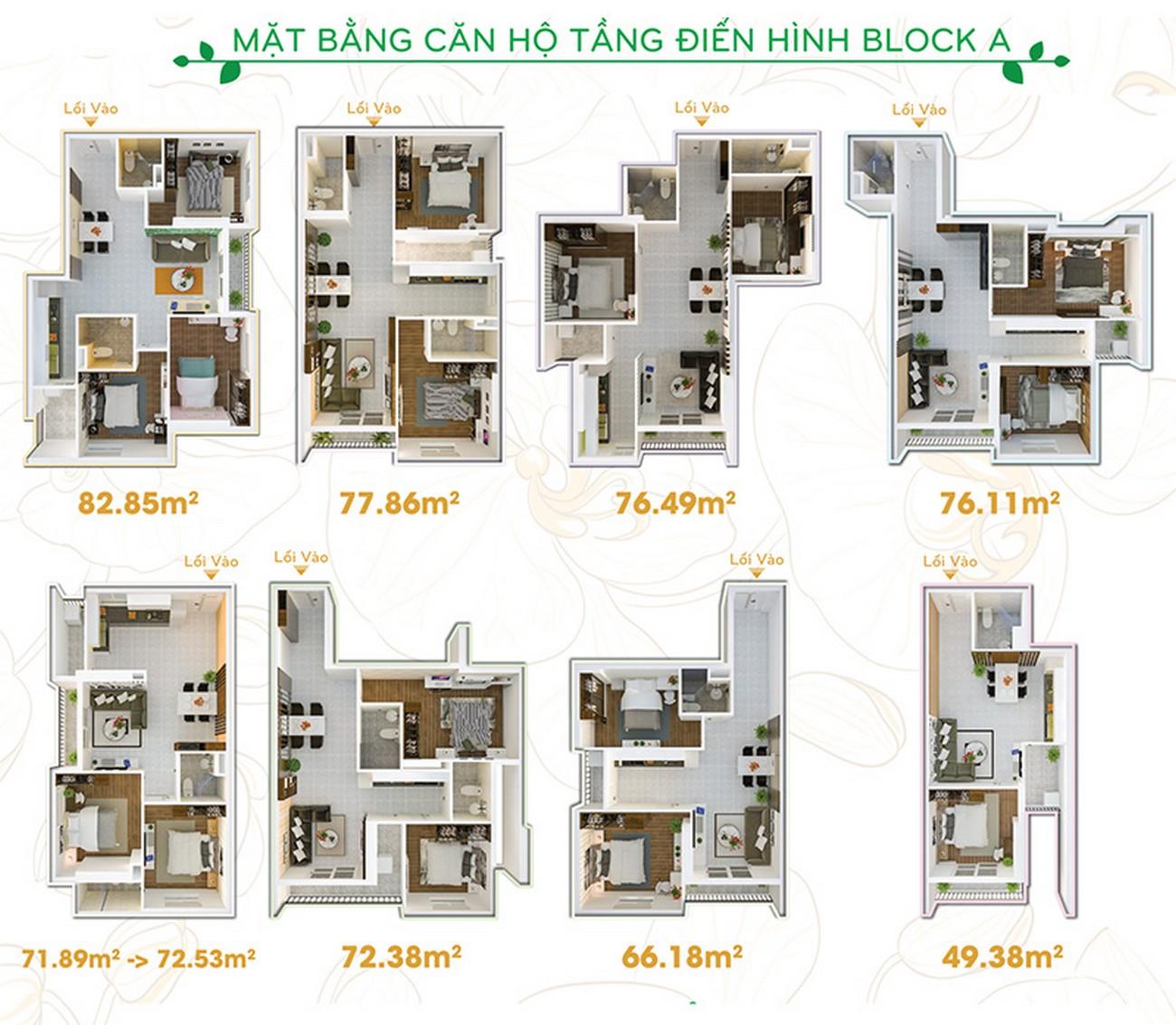 Thiết kế dự án căn hộ chung cư Orchid Park Nhà Bè Đường Nguyễn Lương Bằng chủ đầu tư Cotec