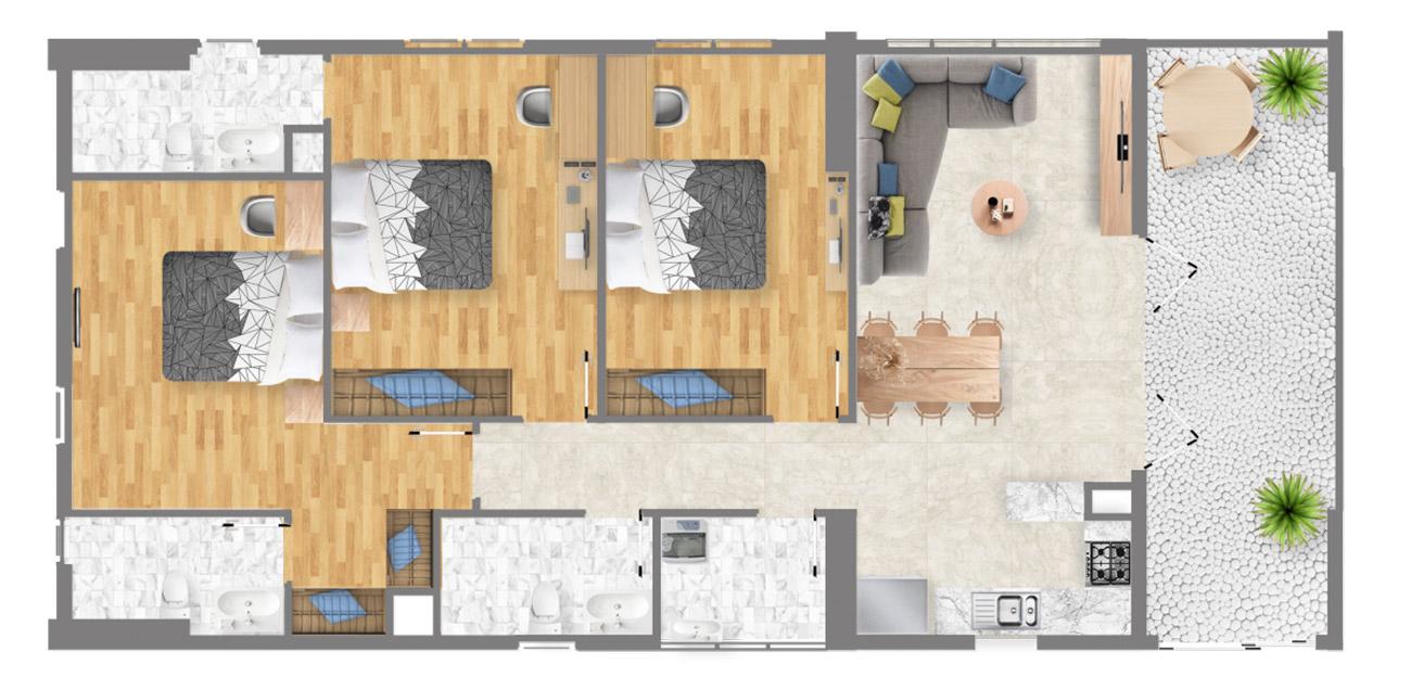 Thiết kế dự án căn hộ chung cư Sài Gòn Intela Bình Chánh Đường 13E Nguyễn Văn Linh chủ đầu tư LDG Group