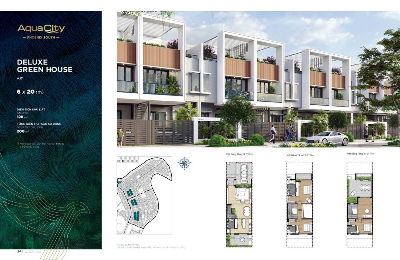 Thiết kế dự án nhà phố Aqua City The Phoenix South Biên Hòa Đồng Nai chủ đầu tư NovaLand