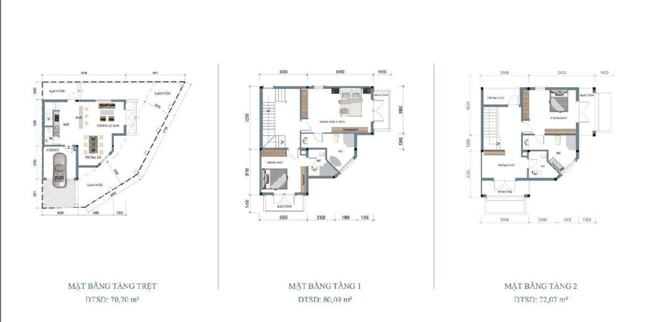 Thiết kế dự án nhà phố Hoja Villa Quận 9 chủ đầu tư Khang Điền