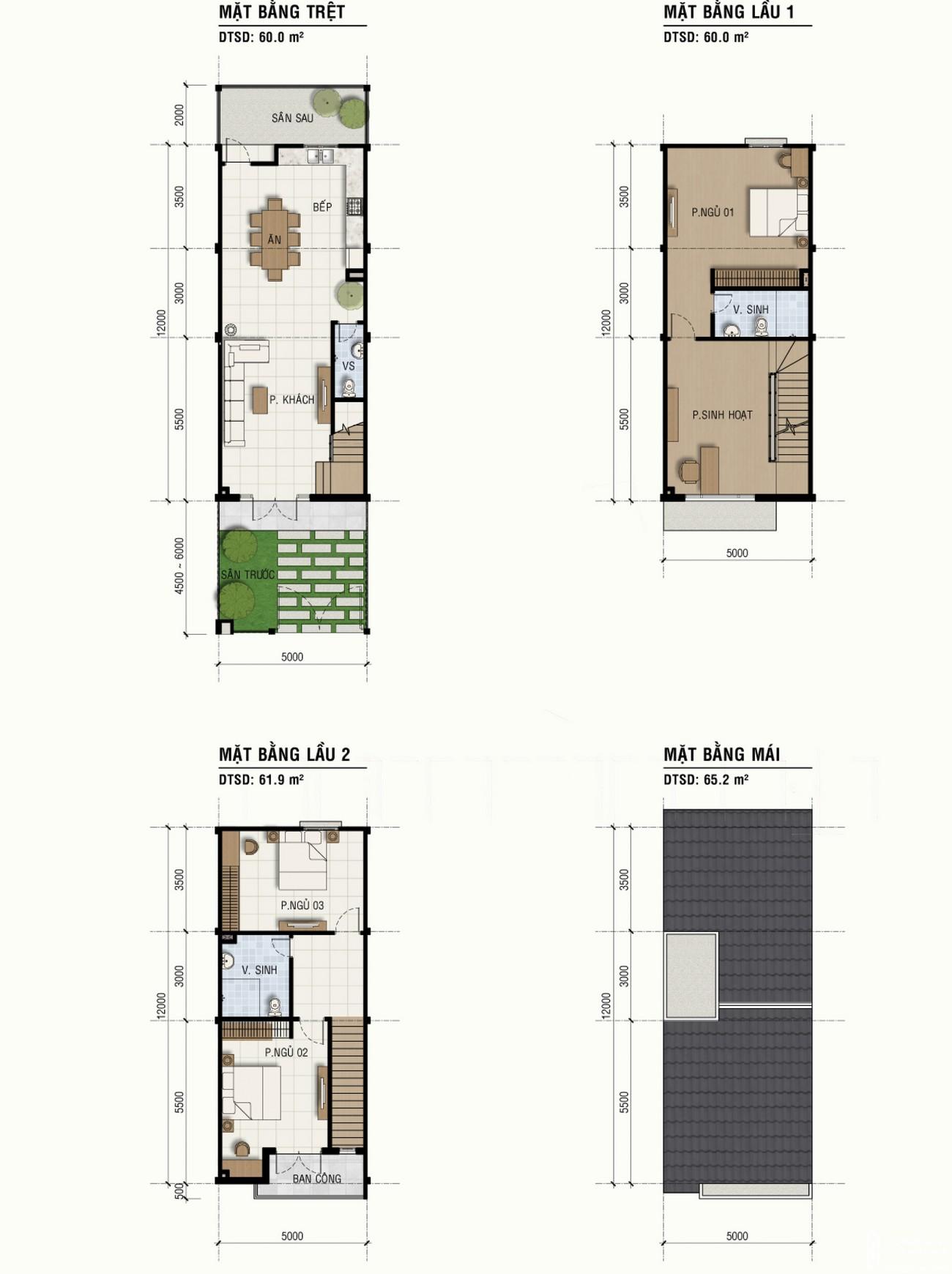Thiết kế dự án nhà phố Mega Residence Quận 9 Đường Vành Đai Trong chủ đầu tư Khang Điền