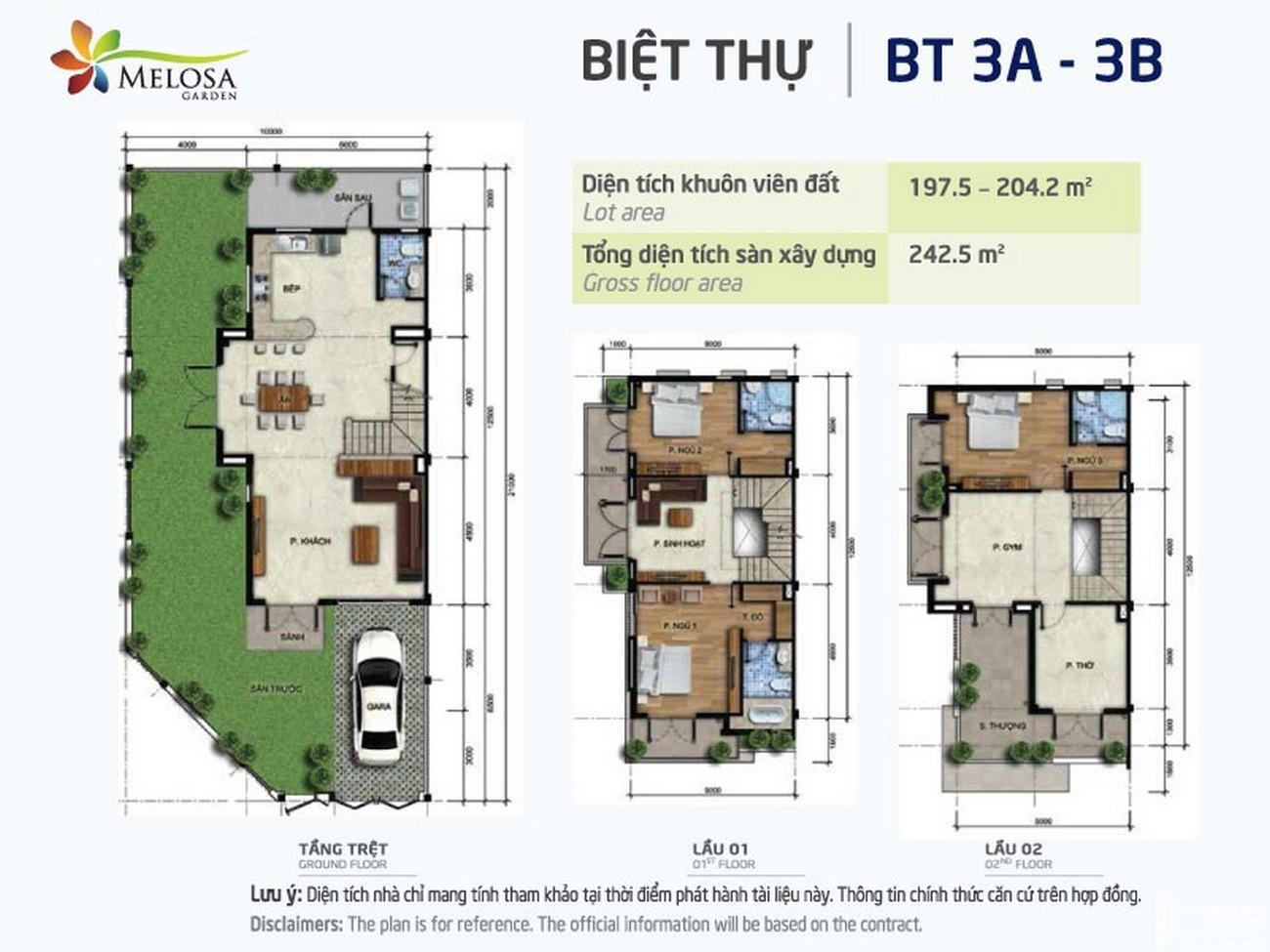 Thiết kế dự án nhà phố Melosa Garden Quận 9 Đường Vành Đai Trong chủ đầu tư Khang Điền