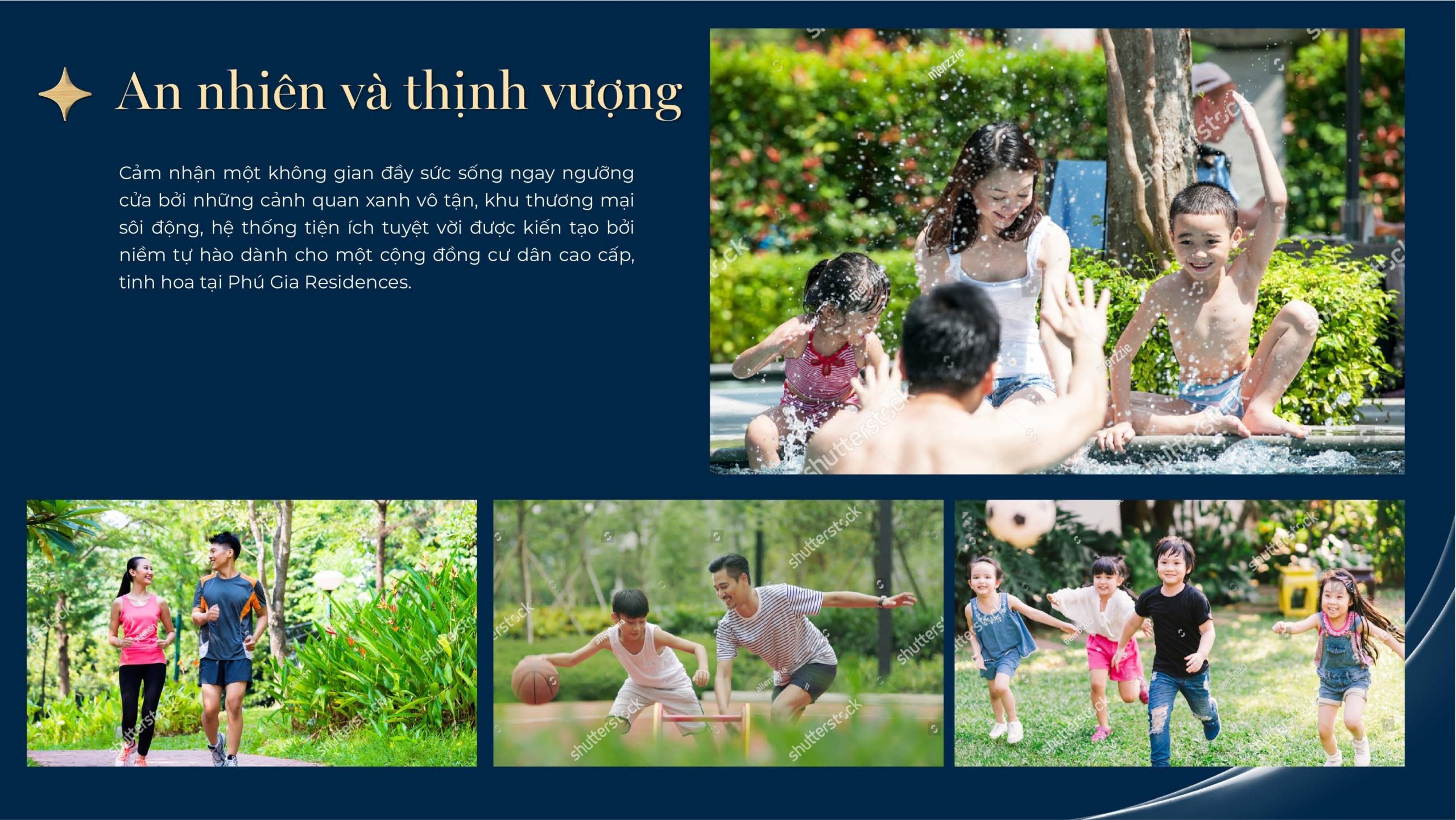 Tiện ích nội khu nhà phố Phú Gia Residences