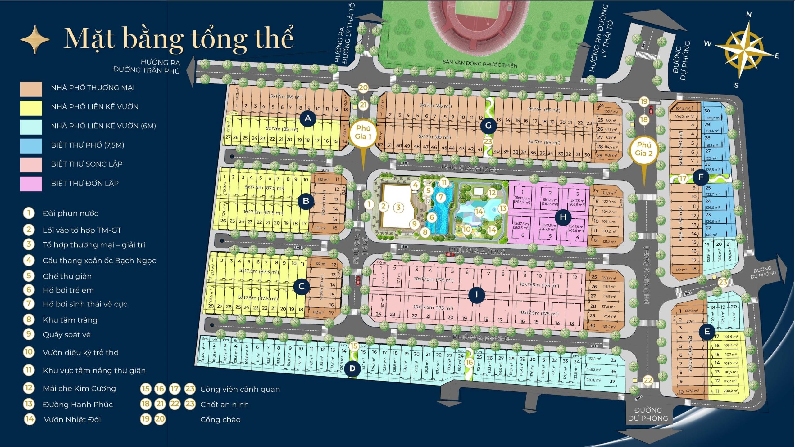 Mặt bằng tổng thể dự án Phú Gia Residences