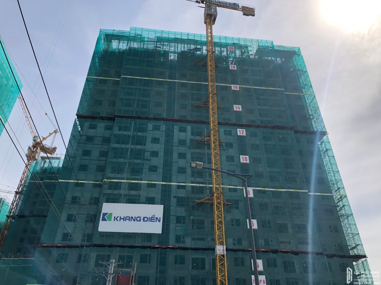 Tiến độ xây dựng dự án căn hộ chung cư Lovera Vista Bình Chánh ngày 17/06/2020