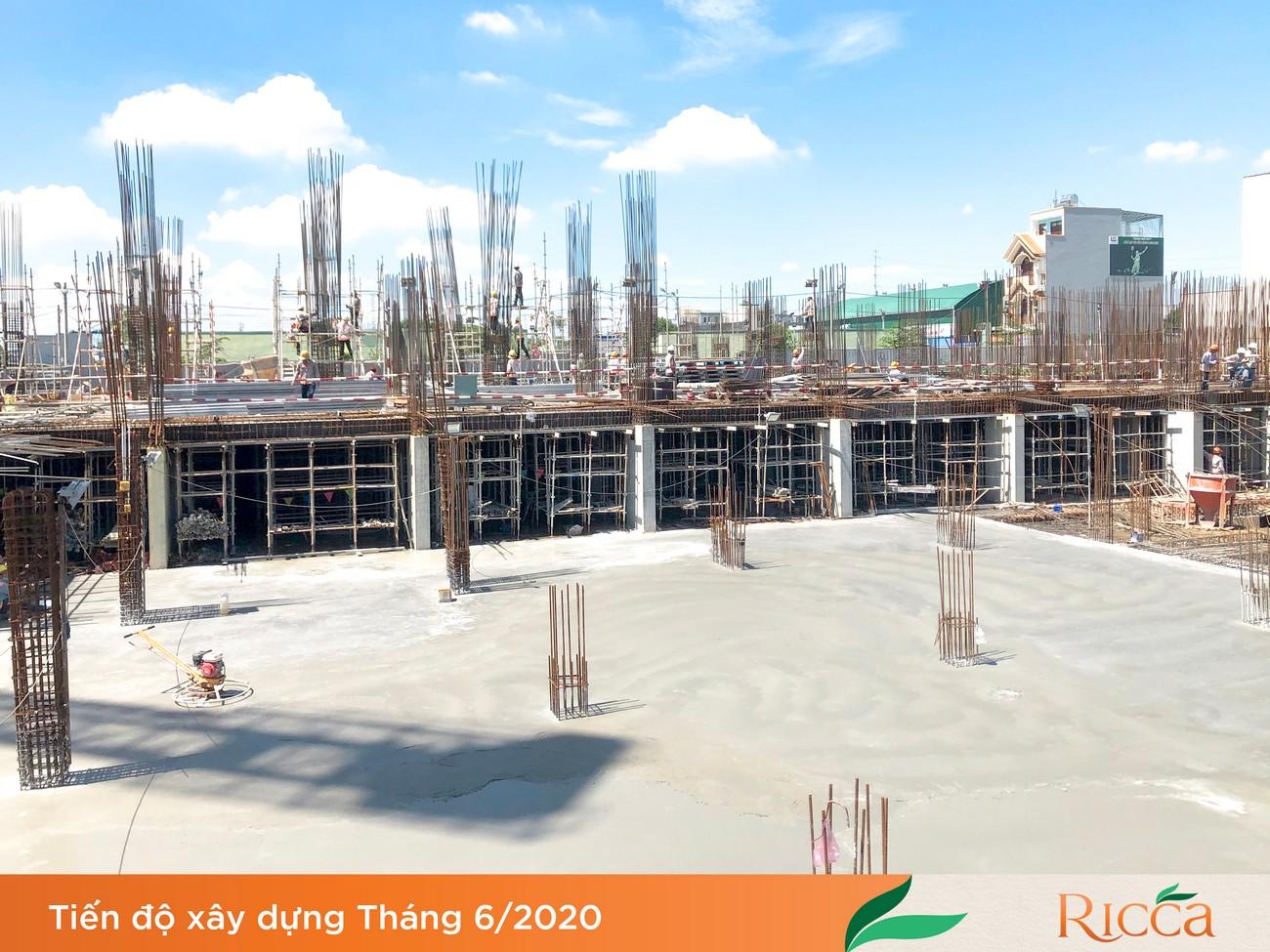 Tiến độ dự án Căn hộ chung cư Ricca Quận 9 Đường Gò Cát Phường Phú Hữu