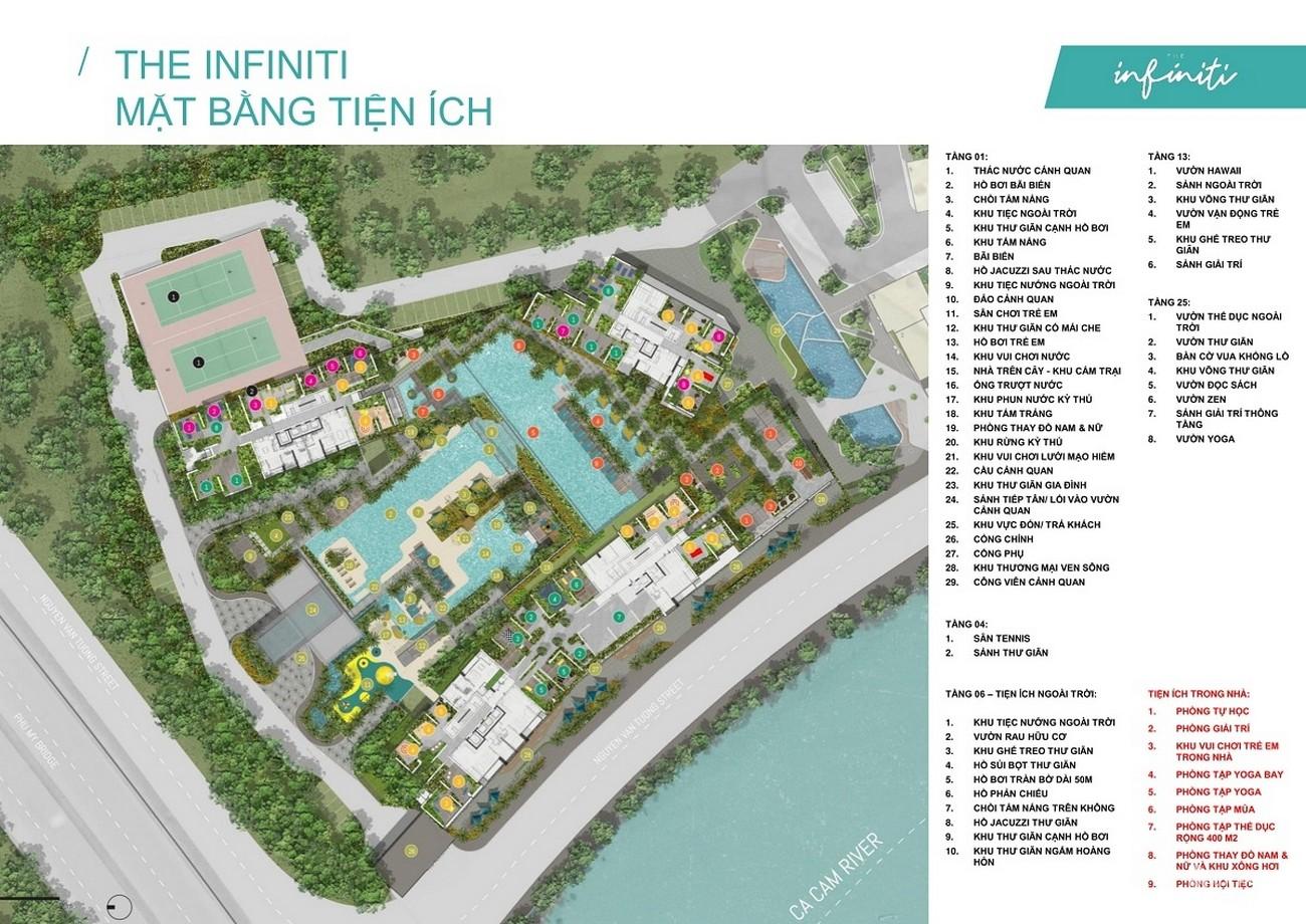 Mặt bằng căn hộ the infiniti Riviera Point Quận 7 Dự án Keppel Land