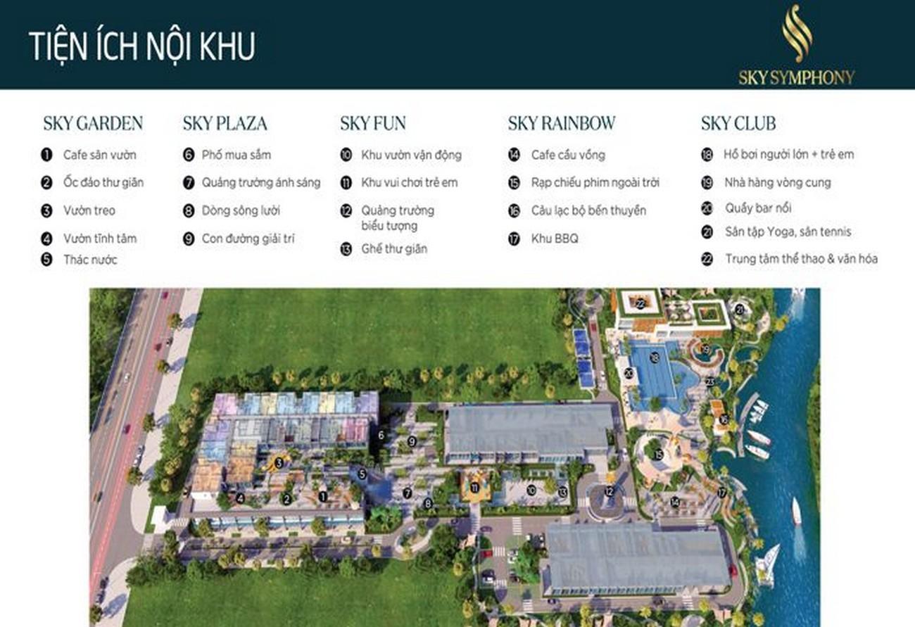 Tiện ích dự án căn hộ chung cư Sky Symphony Nhà Bè Đường Lê Văn Lương chủ đầu tư Khải Hoàn Land