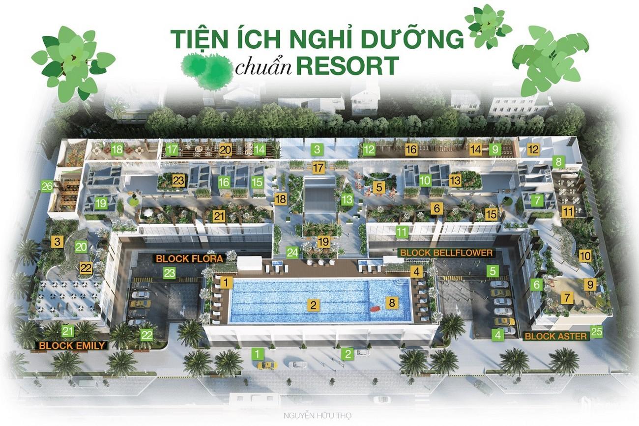Tiện ích dự án căn hộ chung cư Park Vista Nhà Bè Đường Nguyễn Hữu Thọ chủ đầu tư Đông Mê Kông