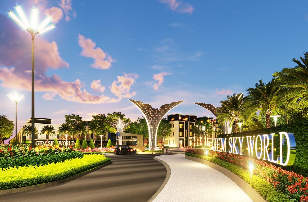 Tiện ích dự án nhà phố, đất nền Gem Sky World Đất Xanh Đường Quốc Lộ 51 Long Thành