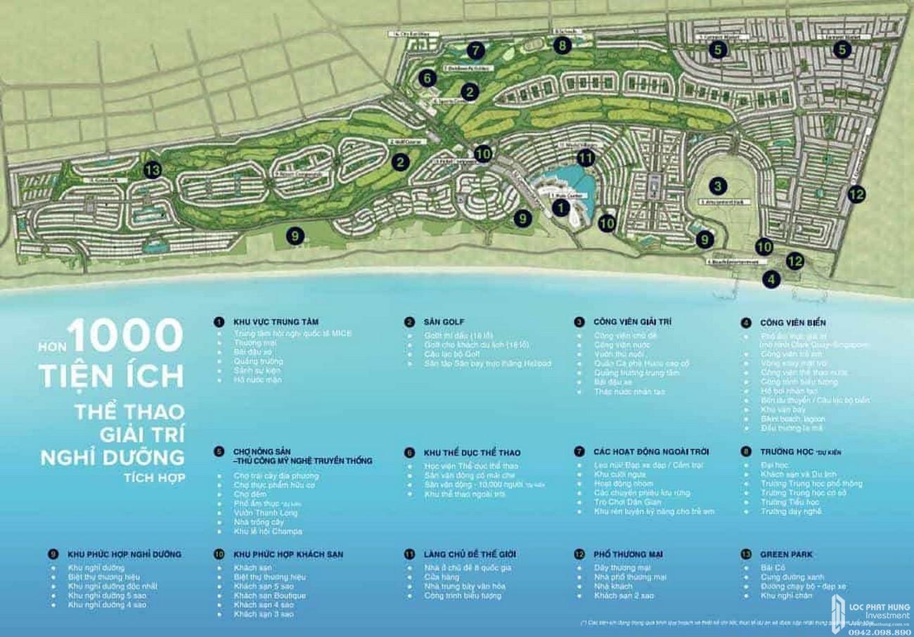 Tiện ích dự án Khu đô thị Novaworld Phan Thiết đường Lạc Long Quân nhà phát triển Novaland