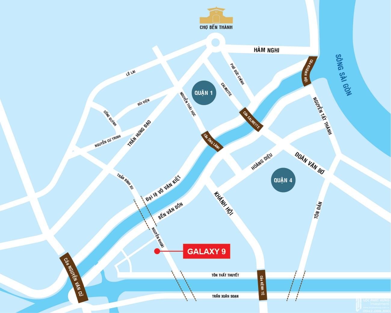 Vị trí địa chỉ dự án căn hộ chung cư Galaxy 9 Quận 4 Đường Nguyễn Khoái chủ đầu tư Novaland
