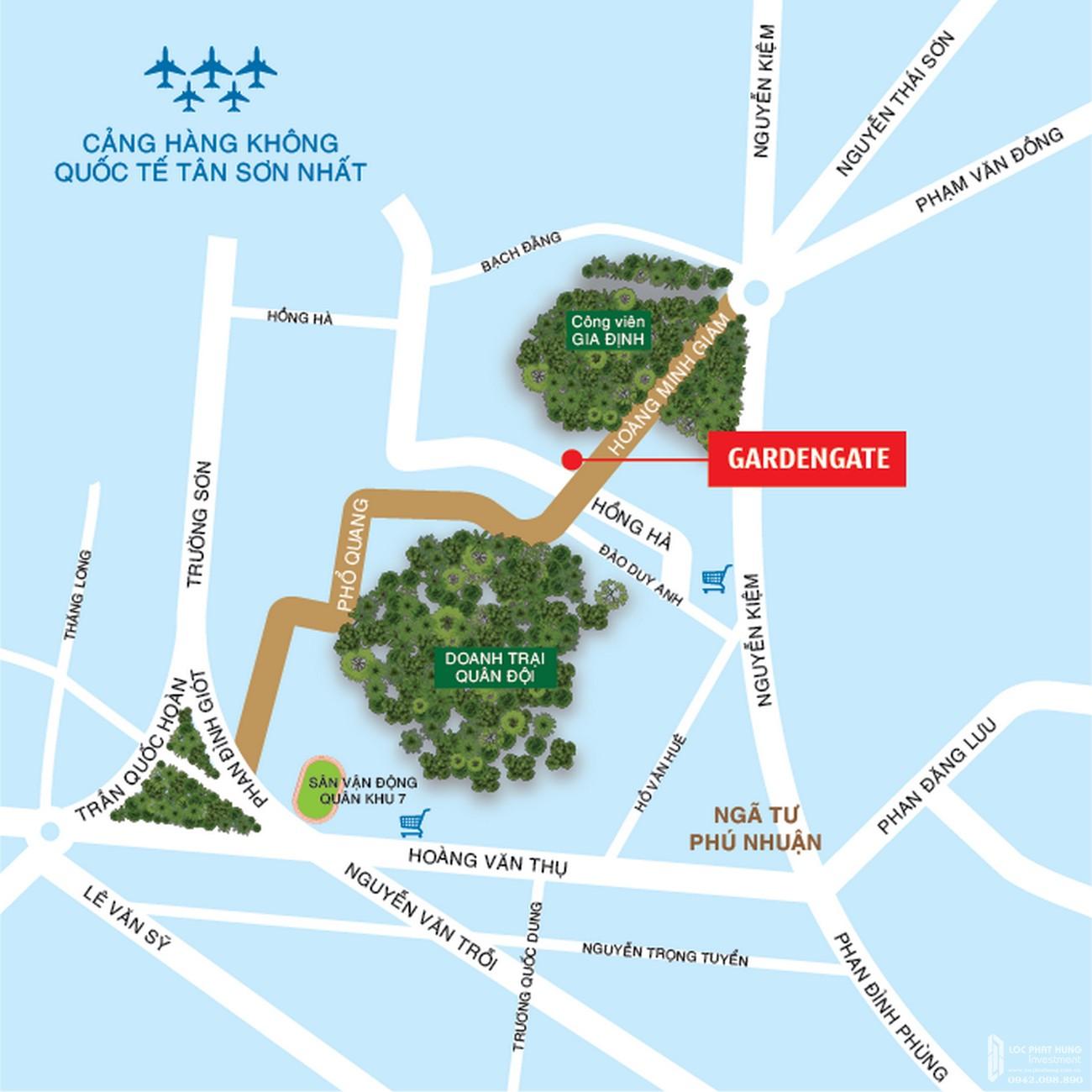 Vị trí dự án căn hộ chung cư Garden Gate Phú Nhuận Đường Hoàng Minh Giám chủ đầu tư Novaland