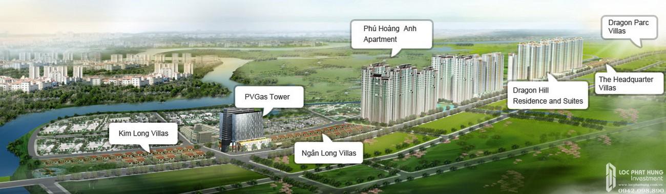 Vị trí địa chỉ dự án nhà phố Dragon Parc Nhà Bè đường Nguyễn Hữu Thọ chủ đầu tư Phú Long