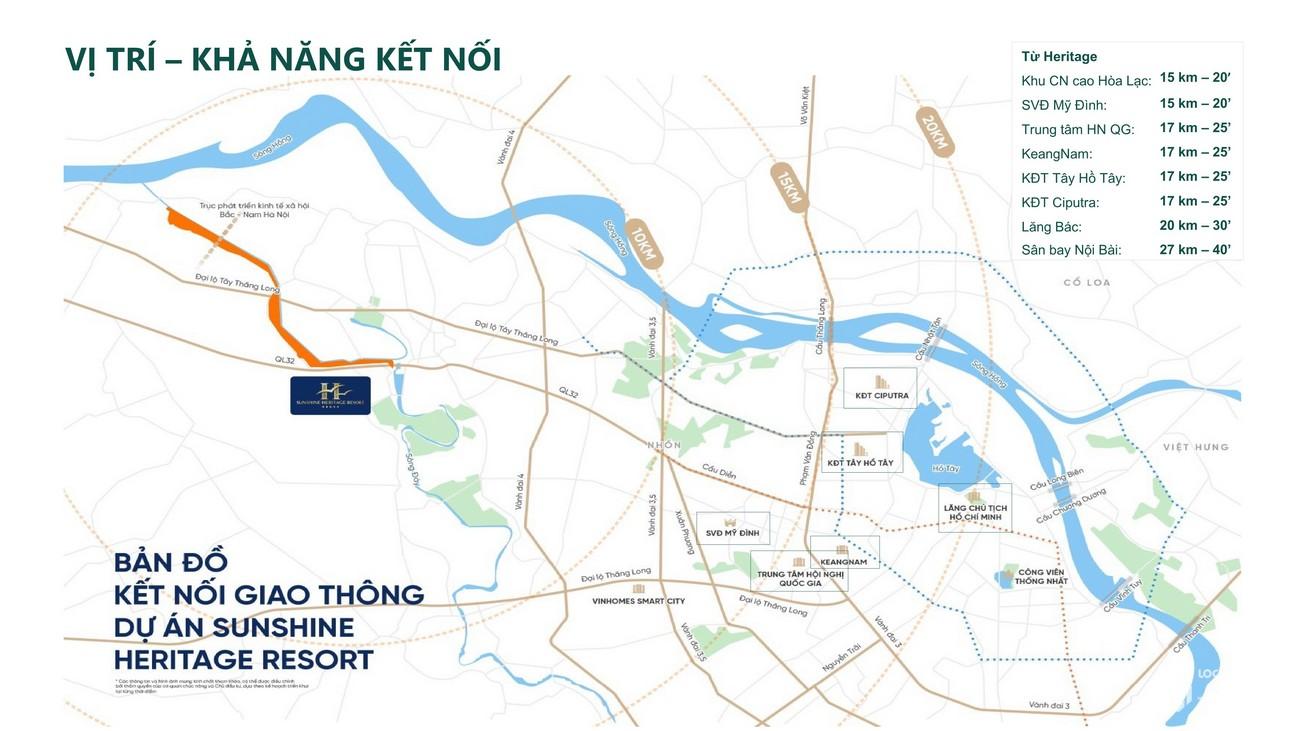 Vị trí địa chỉ dự án Resort Sunshine Heritage Hà Nội Phúc Thọ, Xuân Phú chủ đầu tư Sunshine Group