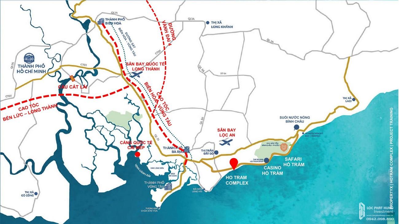 Vị trí địa chỉ dự án căn hộ Hồ Tràm Complex Đường ven biển chủ đầu tư Hưng Thịnh Corp