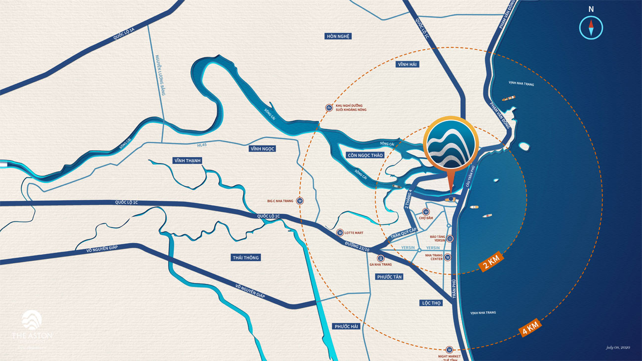 Vị trí địa chỉ dự án căn hộ The Aston Luxury Residence Nha Trang