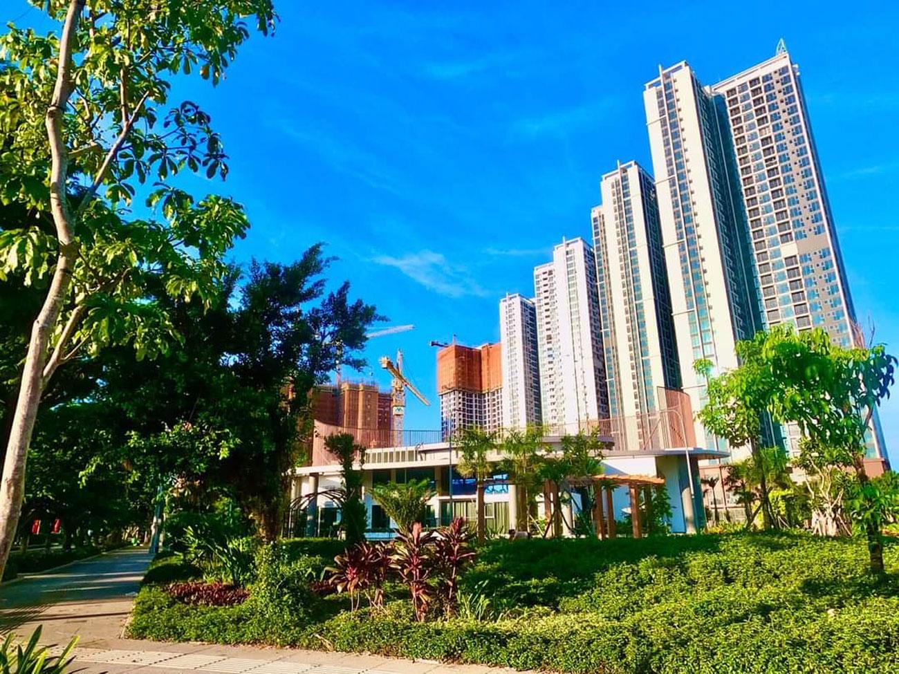 Toàn cảnh hình thực tế dự án căn hộ chung cư Eco Green Sài Gòn Quận 7 tháng 09/2020