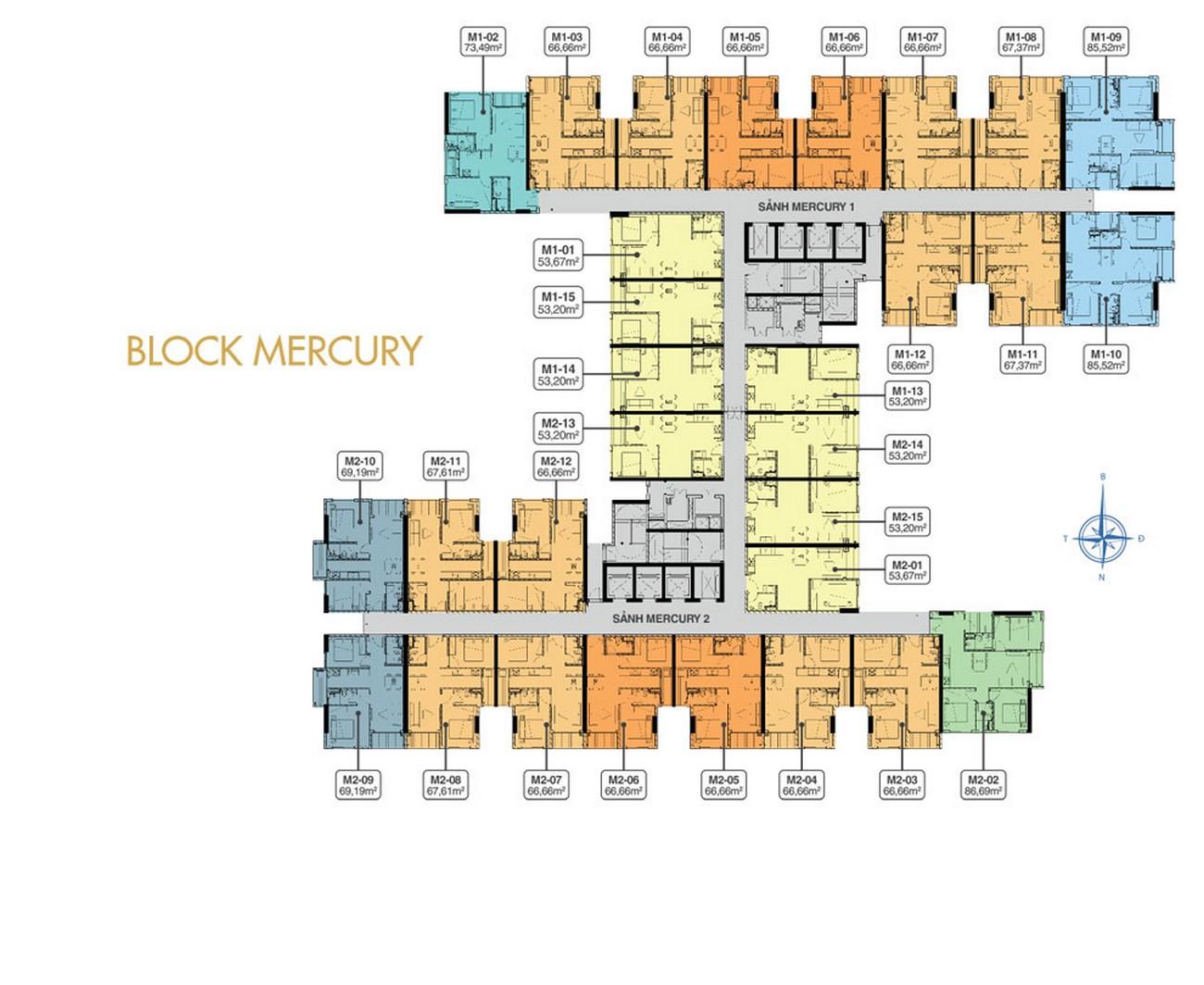 Mặt bằng tầng 05 Block Mercure Q7 Riverside Complex